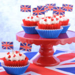 Cakes with British flags