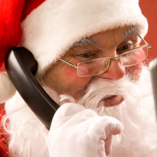 Picture of Santa on the phone